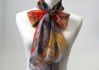 Scarf designed and made by Aria Creative on a mannequin